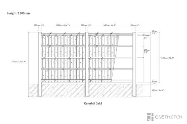 Бамбуковый забор - Kenninji Gaki Specs - ONETHATCH