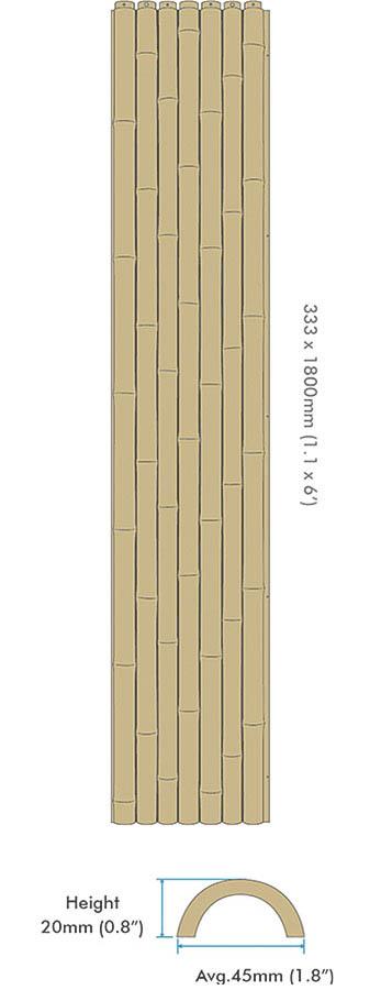 인조 대나무 벽 패널 라운드 - ONETHATCH