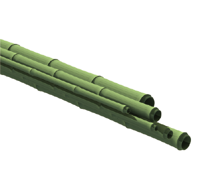 Tubo de bambú de color verde - ONETHATCH