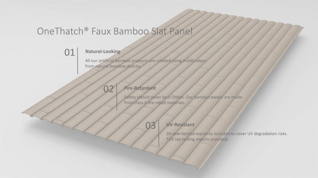 Artificial Faux Bamboo Slats - OneThatch
