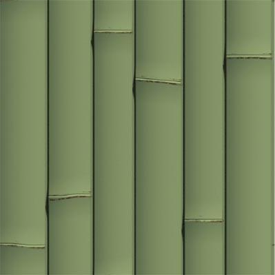 녹색 플라스틱 대나무 벽 패널 - ONETHATCH