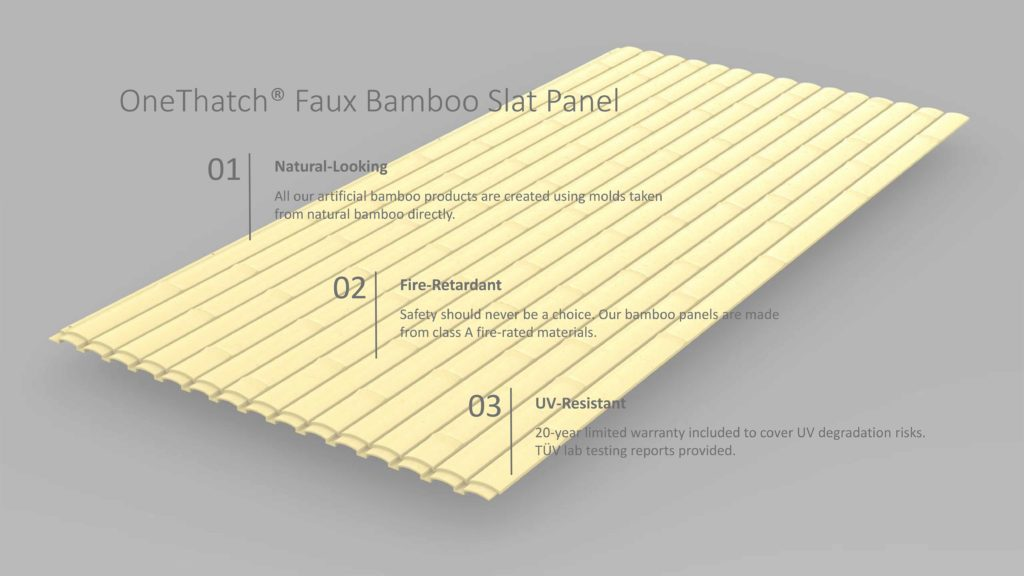 Artificial Bamboo Panels