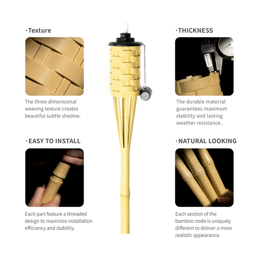 Bamboo Torch Features - ONETHATCH