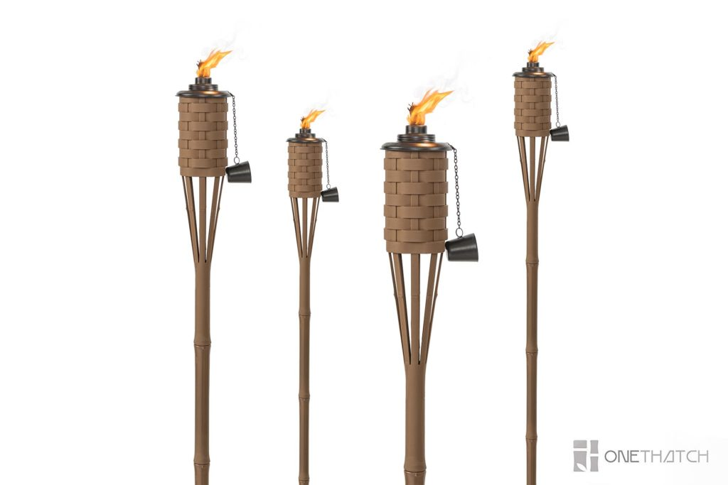Tiki Bamboo Torches - ONETHATCH