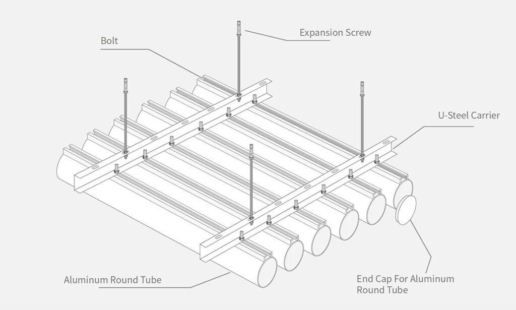 Алюминиево-бамбуковая потолочная конструкция - ONETHATCH
