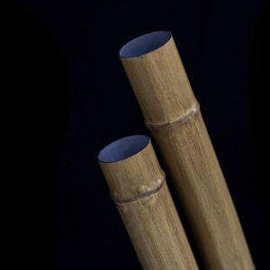 Tiang Bambu Bulat Aluminium - OneThatch
